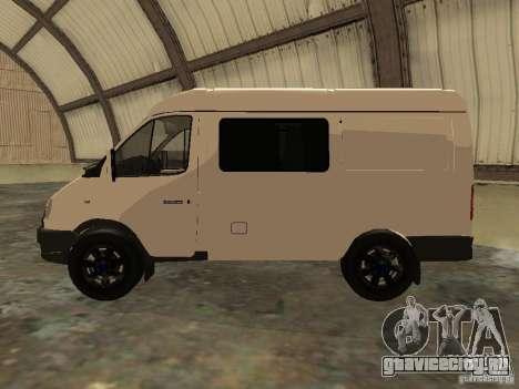 ГАЗ 2752 Соболь Бизнес для GTA San Andreas вид слева