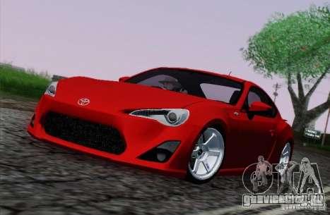 Toyota GT86 для GTA San Andreas вид сбоку