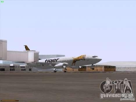 Boeing 737-800 Tiger Airways для GTA San Andreas вид сверху