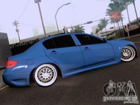 Infiniti G37 Sedan для GTA San Andreas салон