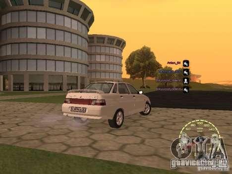 Спидометр Лада Приора для GTA San Andreas пятый скриншот