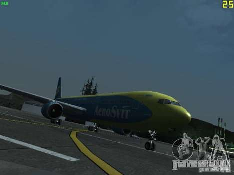 Boeing 767-300 AeroSvit Ukrainian Airlines для GTA San Andreas вид слева