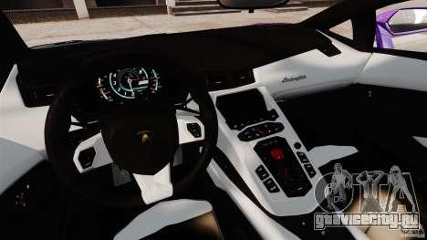 Lamborghini Aventador LP700-4 2012 Galag Gumball для GTA 4 вид сзади