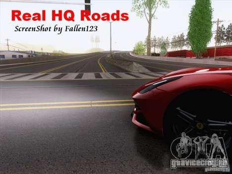 Real HQ Roads для GTA San Andreas