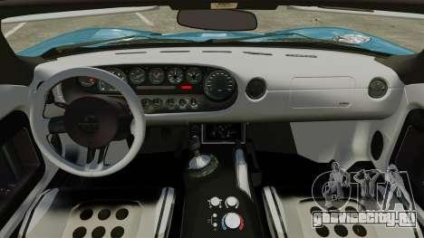 Ford GTX1 2006 для GTA 4 вид изнутри