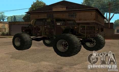 Monster Patriot для GTA San Andreas вид сзади