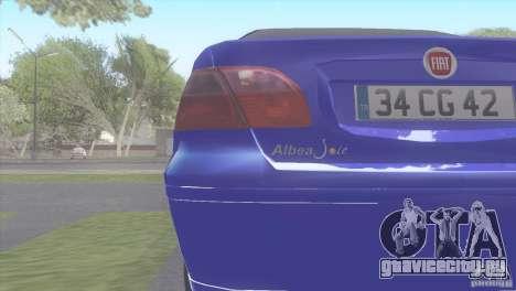 Fiat Albea Sole для GTA San Andreas вид сзади слева