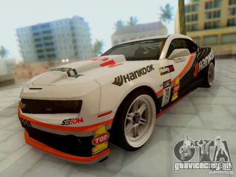 Chevrolet Camaro Hankook Tire для GTA San Andreas вид сзади