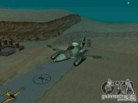 Messerschmitt Me262 для GTA San Andreas вид сзади