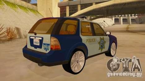 Saab 9-7X Police для GTA San Andreas вид справа
