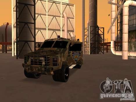 Lenco Bearcat NYPD для GTA San Andreas вид сзади