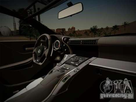 Lexus LFA Nürburgring Edition для GTA San Andreas вид сбоку
