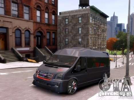 Ford Transit Sport Edition RV 2013 для GTA 4 вид изнутри