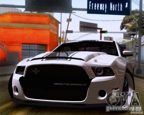 Ford Shelby GT500 Super Snake для GTA San Andreas вид сзади слева