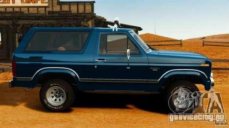 Ford Bronco 1980 для GTA 4 вид слева