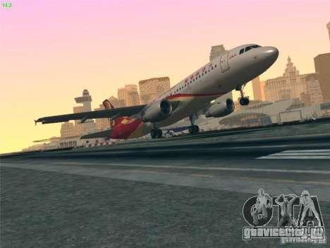 Airbus A320-214 Hong Kong Airlines для GTA San Andreas вид сверху