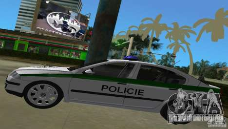 Skoda Octavia 2005 для GTA Vice City вид сзади