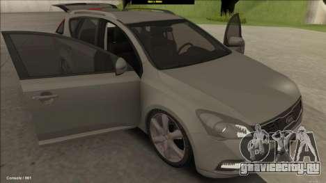 Kia Ceed SW для GTA San Andreas вид сзади