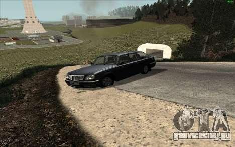 ГАЗ 31104 Волга для GTA San Andreas вид сзади слева