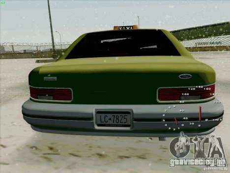 HD Taxi SA из GTA 3 для GTA San Andreas вид справа