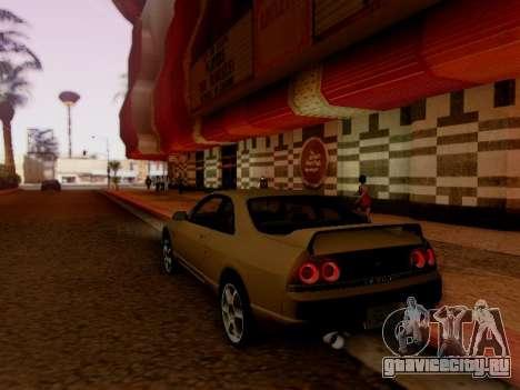 Nissan Skyline ECR33 для GTA San Andreas вид сзади