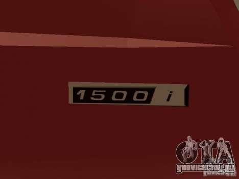 ВАЗ 2104 v.2 для GTA San Andreas вид изнутри