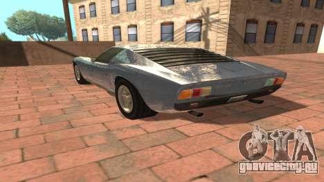 Lamborghini Miura P400 SV 1971 V1.0 для GTA San Andreas вид сзади слева