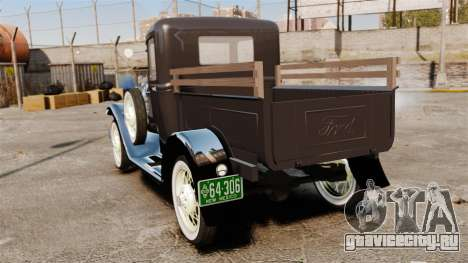 Ford Model T Truck 1927 для GTA 4 вид сзади слева