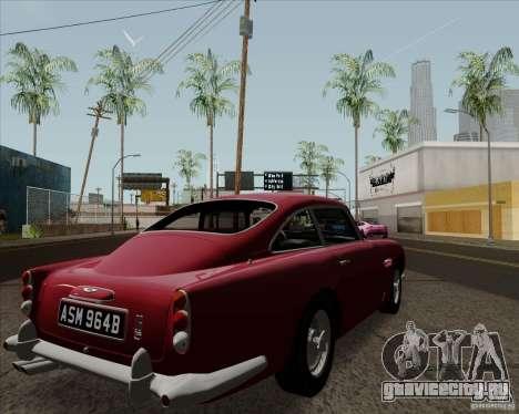 Aston Martin DB5 для GTA San Andreas вид справа