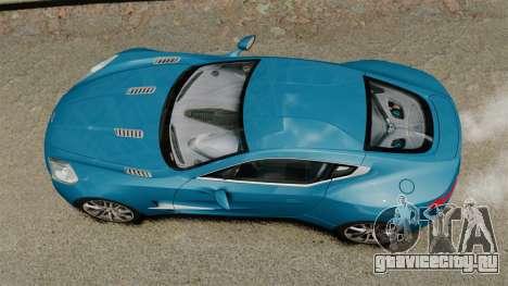 Aston Martin One-77 для GTA 4 вид справа