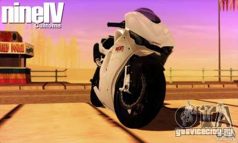 Ducati Desmosedici RR 2012 для GTA San Andreas вид слева