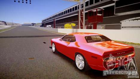 Dodge Challenger RT 2006 для GTA 4 вид сзади слева