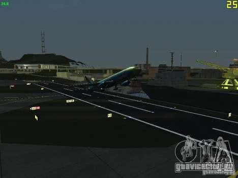 Boeing 767-300 AeroSvit Ukrainian Airlines для GTA San Andreas вид сзади