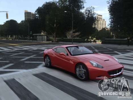 Ferrari California 2009 для GTA 4 вид сзади