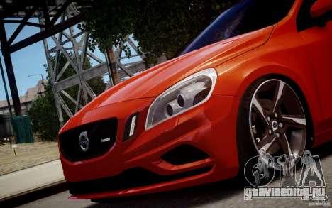 Volvo S60 R-Design 2011 для GTA 4 вид сзади слева