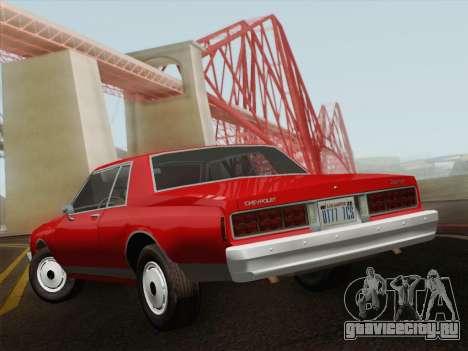 Chevrolet Caprice 1986 для GTA San Andreas вид сзади слева