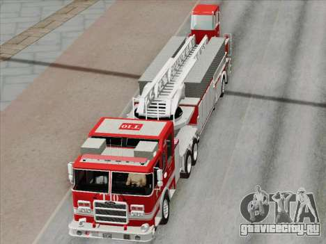 Pierce Arrow XT LAFD Tiller Ladder Truck 10 для GTA San Andreas двигатель