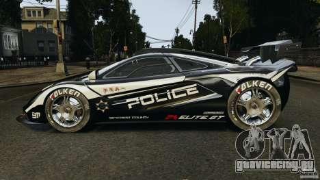 McLaren F1 ELITE Police для GTA 4 вид слева