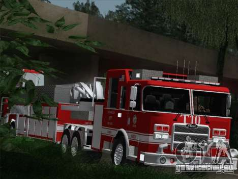 Pierce Arrow XT LAFD Tiller Ladder Truck 10 для GTA San Andreas вид сбоку