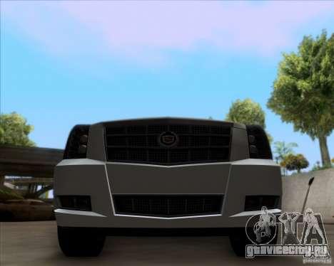 Cadillac Escalade ESV Platinum 2013 для GTA San Andreas вид изнутри
