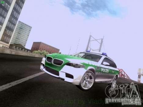 BMW M5 Touring Polizei для GTA San Andreas вид слева