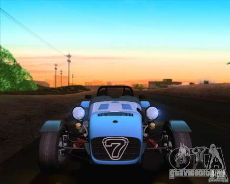 Caterham Superlight R500 для GTA San Andreas вид снизу