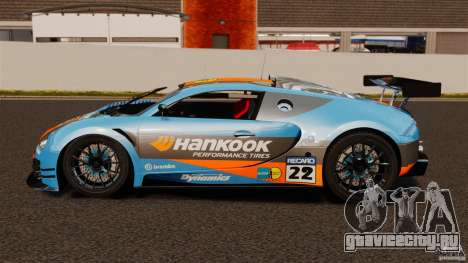 Bugatti Veyron 16.4 Body Kit Final для GTA 4 вид слева