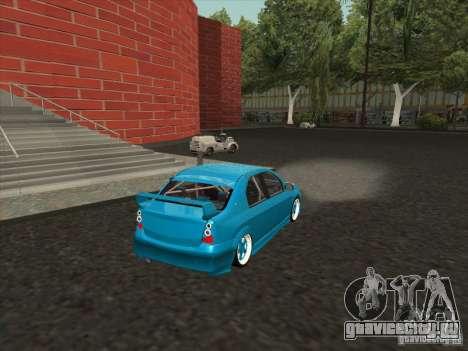 Renault Logan для GTA San Andreas вид слева