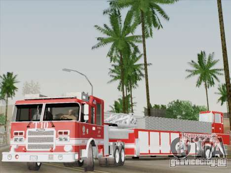Pierce Arrow XT LAFD Tiller Ladder Truck 10 для GTA San Andreas салон