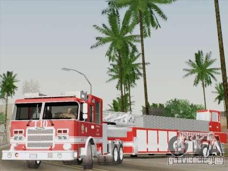Pierce Arrow XT LAFD Tiller Ladder Truck 10 для GTA San Andreas салон