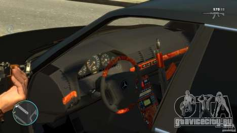 Mercedes-Benz S600 для GTA 4 вид изнутри