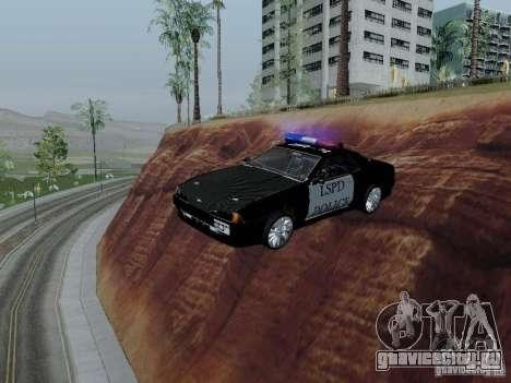 Elegy Police LS для GTA San Andreas вид изнутри
