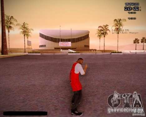 Skin Чикаго Буллс для GTA San Andreas четвёртый скриншот