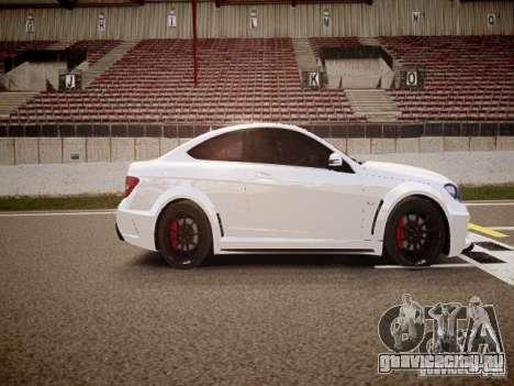 Mercedes-Benz C63 AMG Stock Wheel v1.1 для GTA 4 вид изнутри